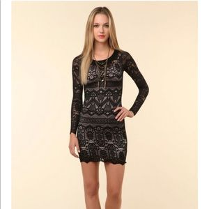 Whyred melly dress lace dress sz med body con uo